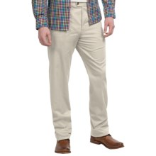 Twill Flat-Front Pants (For Men) in Stone - 2nds