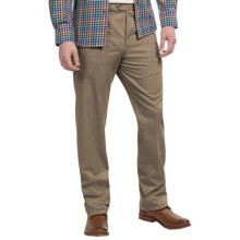 Twill Flat-Front Pants (For Men) in Taupe - 2nds