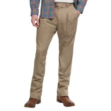 Twill Pleated-Front Pants (For Men) in Khaki - 2nds