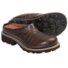 Twisted X Barn Burner Mules - Leather (For Women) in Dark Brown/Dark Brown Gator Print - Closeouts