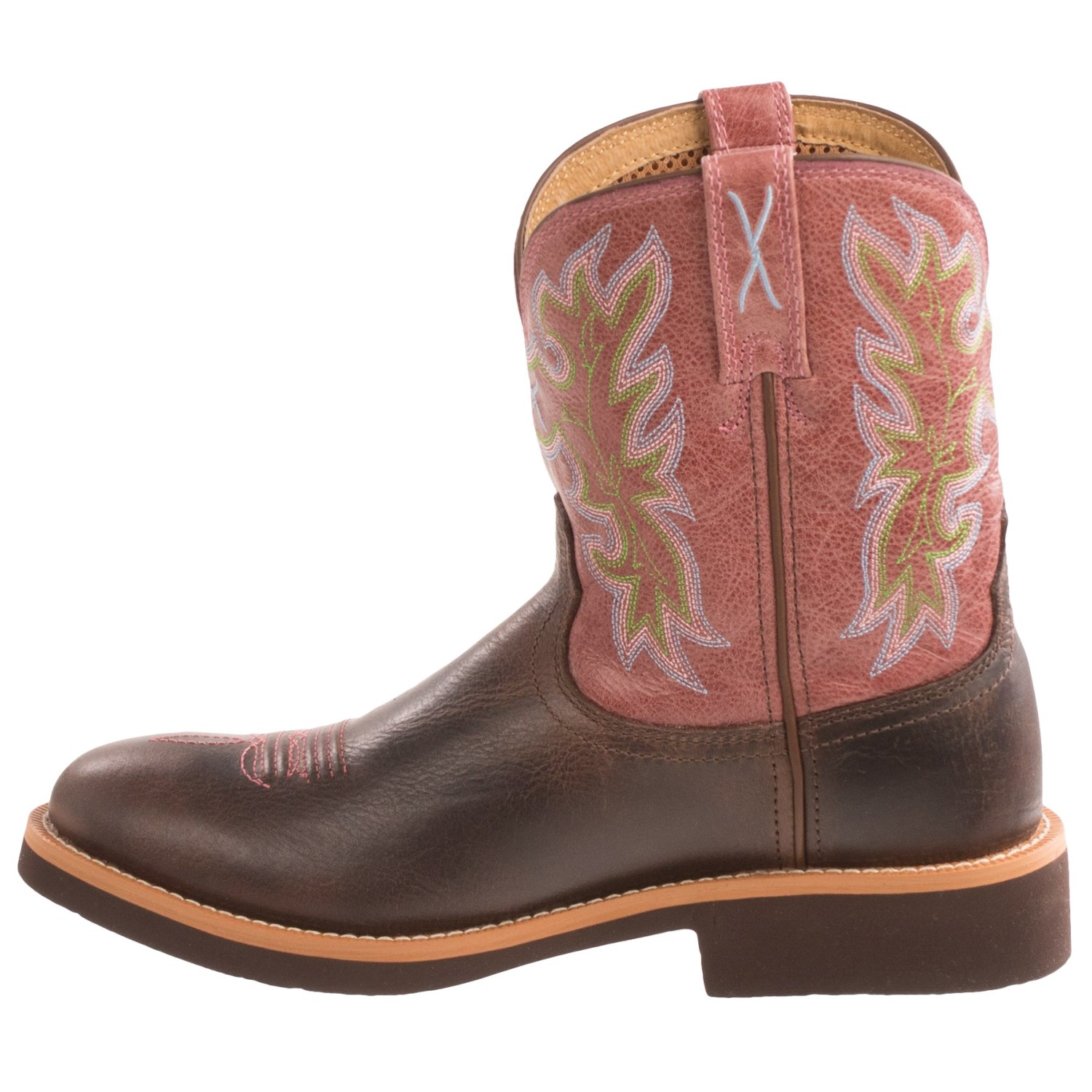 Popular Twisted X Distressed Ruff Stock Cowboy Boots - Wide Square Toe - Country Outfitter