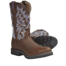 Twisted X Boots Cowboy Work Boots - Waterproof, U-Toe (For Men) in Brown Pebble - Closeouts