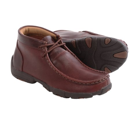 Twisted X Boots Leather Driving Moccasins For Big and Little Kids