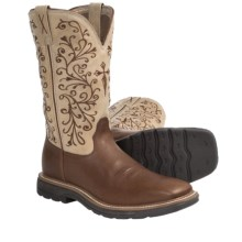 Twisted X Boots Lite Weight Work Boots - NWS Toe (For Women) in Peanut Hazel - Closeouts