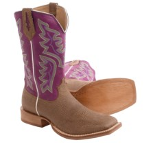 Twisted X Boots Red River Cowboy Boots - Leather, Square Toe (For Men) in Distressed Grain/Purple - Closeouts