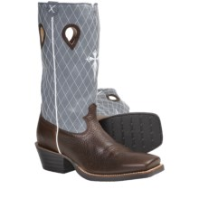 "Twisted X Boots Ruff Stock 13"" Cowboy Boots - Riding Heel, CWS-Toe (For Men) in Cognac/Denim - Closeouts"