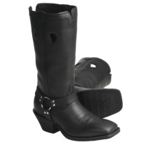 "Twisted X Boots Ruff Stock Black-Oiled Harness Boots - 13"", NWS-Toe (For Women) in Black - Closeouts"