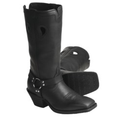 "Twisted X Boots Ruff Stock Black-Oiled Harness Boots - 13"", NWS-Toe (For Women) in Black"