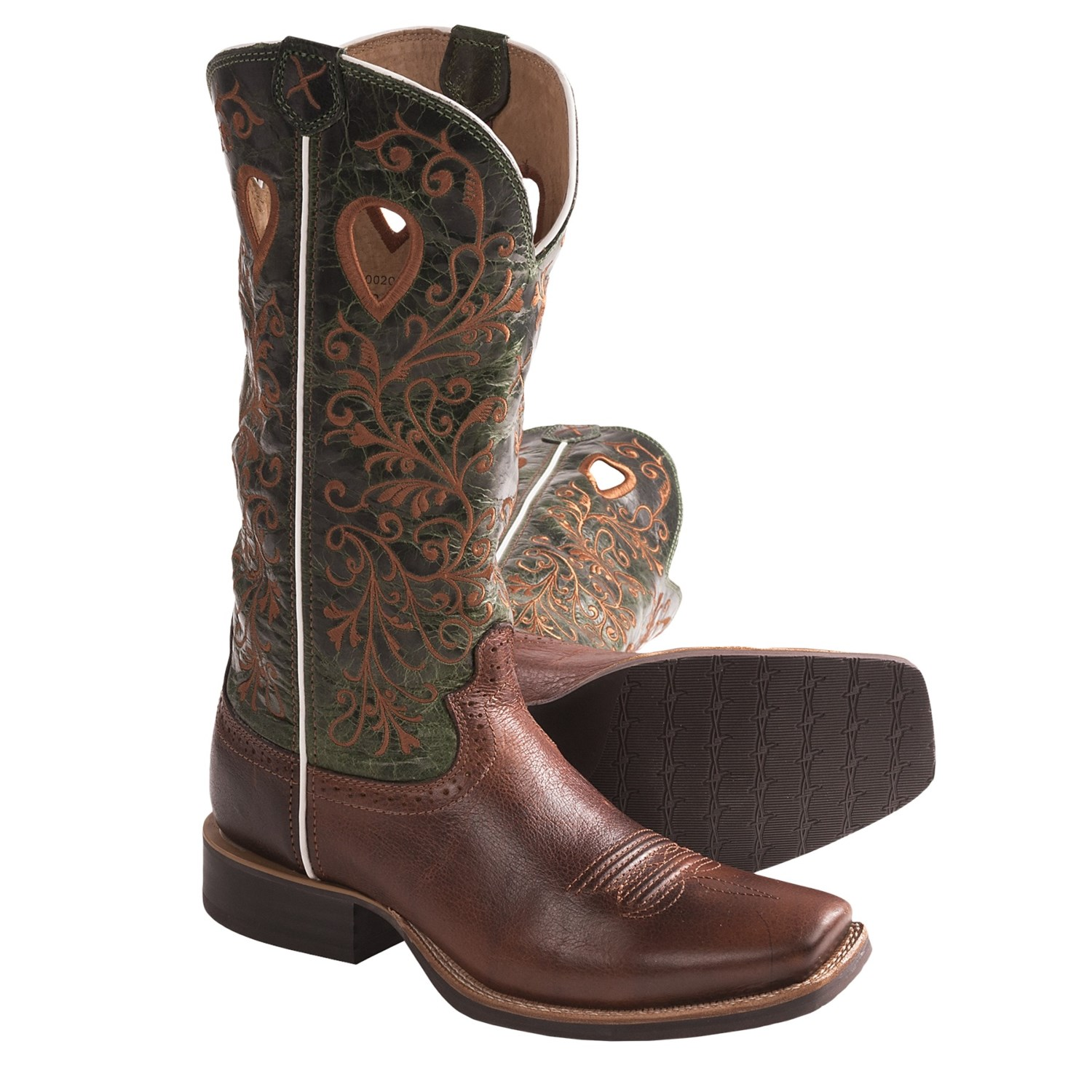 Twisted X Boots Ruff Stock Cowboy Boots - 13 , PWS-Toe (For Women) in