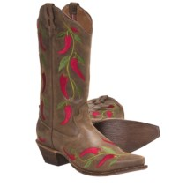 "Twisted X Boots Steppin' Out Cowboy Boots - 13"", F-Toe (For Women) in Bomber/Chili - Closeouts"