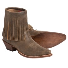 Twisted X Boots Steppin' Out Fringed Western Boots - Leather (For Women) in Bomber Leather - Closeouts