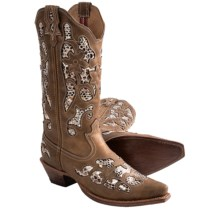 "Twisted X Boots Steppin' Out Leather Cowboy Boots - 13"", F-Toe (For Women) in Bomber - Closeouts"