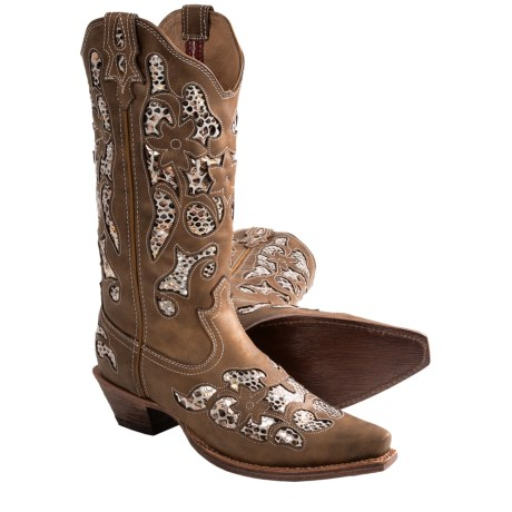 "Twisted X Boots Steppin' Out Leather Cowboy Boots 13"", F Toe (For Women)"