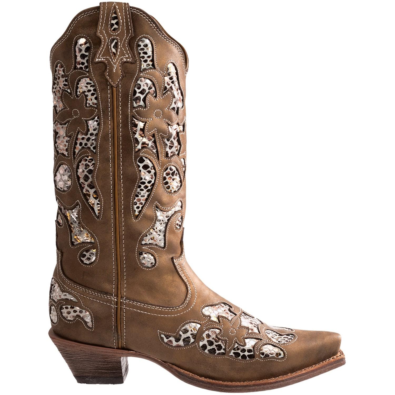 Fantastic Twisted X Womens Western Boots In Chocolate Leather - Koolstuff Australia
