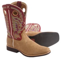 Twisted X Boots Top Hand Cowboy Boots - Leather, Square Toe (For Men) in Distressed Grain/Red - Closeouts