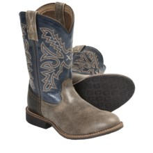 Twisted X Boots Top Hand Cowboy Boots - U-Toe (For Youth) in Bomber/Navy - Closeouts