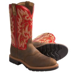 Twisted X Boots Western Work Boots - Leather, U-Toe (For Women) in Distressed Saddle/Cherry