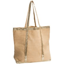 "Two's Company Caroline Jute Bag with Sequin Detail - 22x14"" in Jute - Closeouts"