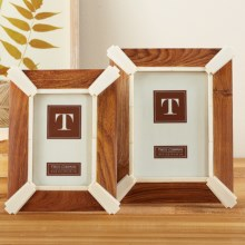 Two's Company Gatsby Photo Frames - Set of 2 in Wood - Closeouts