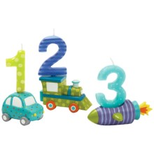 Two's Company Happi by Dena Children's Birthday Candles and Holders - Set of 6 in Vehicles - Closeouts