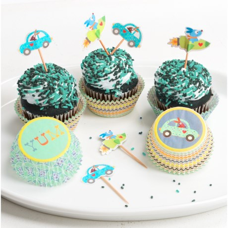 Two's Company Happi by Dena Cupcake Party Kit - 48-Piece Set in Blue