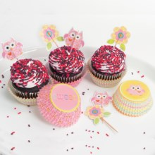Two's Company Happi by Dena Cupcake Party Kit - 48-Piece Set in Pink - Closeouts