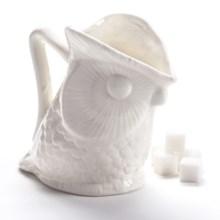 Two's Company Owl Creamer Pitcher - Ceramic in White - Closeouts