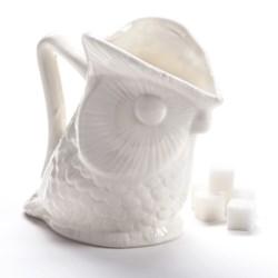 Two's Company Owl Creamer Pitcher - Ceramic in White