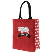 Two's Company The Artisan Market Butcher Tote Bag - Jute-Cotton in Hamlet - Closeouts