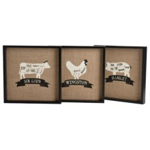 Two's Company The Artisan Market Wall Art - Set of Three in Sir Loin / Wingston / Hamlet - Closeouts