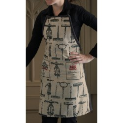 Two's Company Wine Motif Chef's Apron in Corkscrews