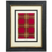 "Two's Company Yale Tartan Wall Art Print - 8x10"" in Macgregor - Closeouts"