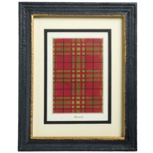 "Two's Company Yale Tartan Wall Art Print - 8x10"" in Macnab - Closeouts"