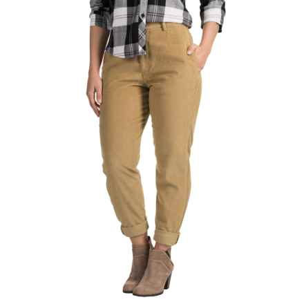 Two-Pocket Corduroy Pants (For Women) in Beige - 2nds