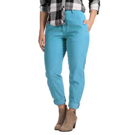 Two-Pocket Corduroy Pants (For Women) in Blue - 2nds