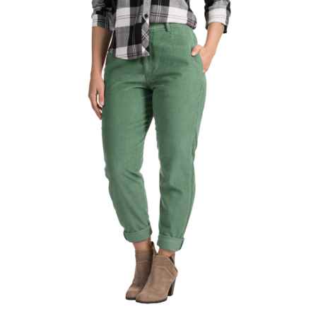 Two-Pocket Corduroy Pants (For Women) in Green - 2nds
