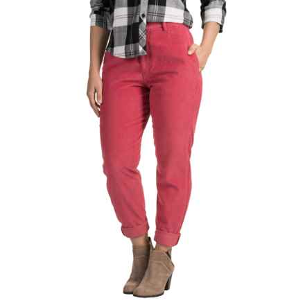 Two-Pocket Corduroy Pants (For Women) in Red - 2nds