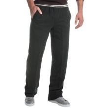 Two-Pocket Drawstring Sweatpants (For Men) in Black - Closeouts