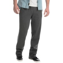 Two-Pocket Drawstring Sweatpants (For Men) in Charcoal Heather - Closeouts