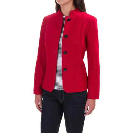 Two-Pocket Dress Jacket - Button Front (For Women) in Red - 2nds