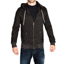 Two-Pocket Fleece Hoodie - Full Zip (For Men) in Black - Closeouts