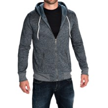 Two-Pocket Fleece Hoodie - Full Zip (For Men) in Blue - Closeouts