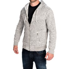 Two-Pocket Fleece Hoodie - Full Zip (For Men) in Grey - Closeouts