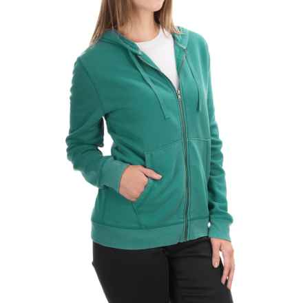 Two-Pocket Zip Hoodie (For Women) in Mint - 2nds