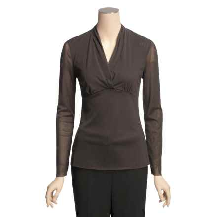 Two Star Dog Anne Shirt - Stretch Mesh, Long Sleeve (For Women) in Espresso - Closeouts