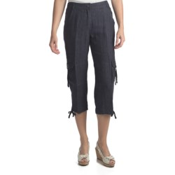 Two Star Dog Cairo Linen Capris (For Women) in Soft White