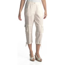 Two Star Dog Cairo Linen Capris (For Women) in Soft White - Closeouts