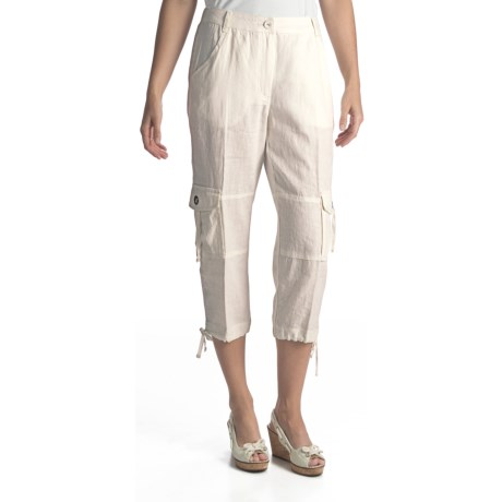 Two Star Dog Cairo Linen Capris (For Women) in Atlantic