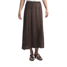 Two Star Dog Cannes Crinkle Jersey Skirt (For Women) in Chocolate - Closeouts