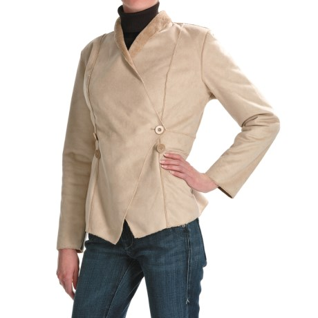 Two Star Dog Courtney Jacket - Faux-Shearling (For Women) in Sesame